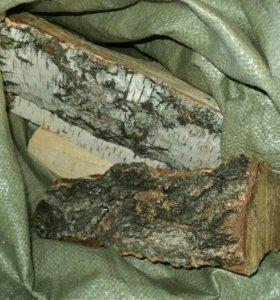 Березовые дрова в мешках