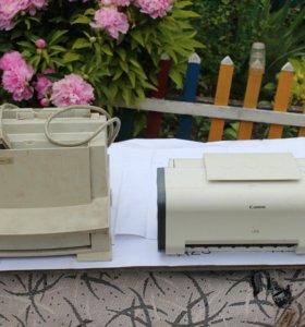 принтеры ч\б HP Laserjet 5L ,и цветной кэнон i250