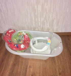Детская ванночка, гамак, сиденье для купания