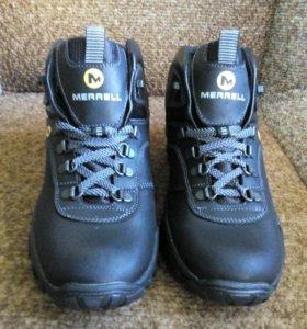Кожаные ботинки зимние новые