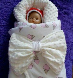 Зимнее одеялко на выписку