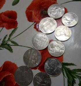 Коллекция из 10 монет, юбилейные монеты СССР