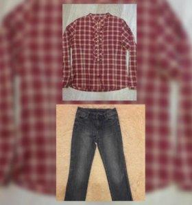 Блузка Crockid и джинсы для девочки р.146