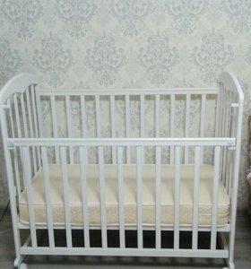 Кровать детская с ортопедическим матрасом