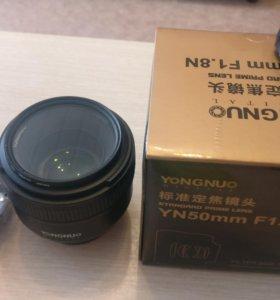 Объектив yongnuo 50 мм на байонет Nikon