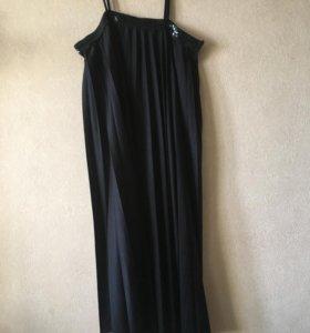 Платье чёрное, сарафан чёрный