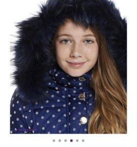 Пальто зима на девочку 2500 руб состояние нового