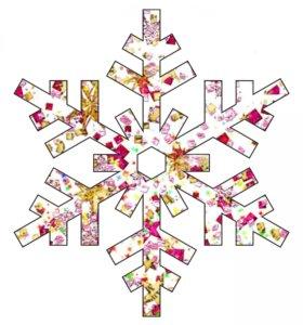 К Новому Году--Снежинки, Звездочки и Хвоя.