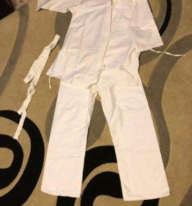 Кимоно белое новое спортивное, разные размеры