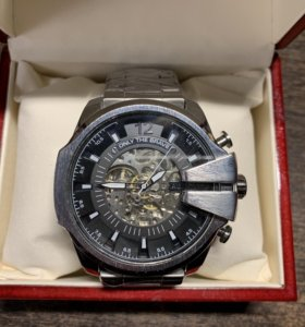 Часы Diesel Mega Chief Silver