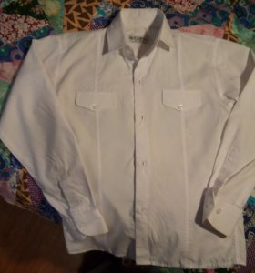 Три школьные рубашки на мальчика 8-11 лет