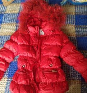 Куртка зимняя и штаны зимние для девочки