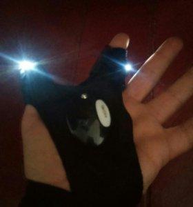 Перчатка со встроенным фонариком