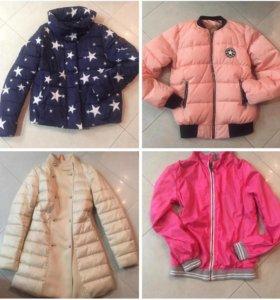 Куртки, пальто, ветровка 10- 13 лет