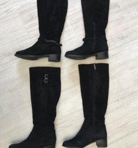 Кожаные сапоги, 40 размер