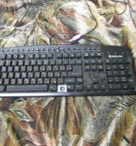 Проводные клавиатура+мышка.