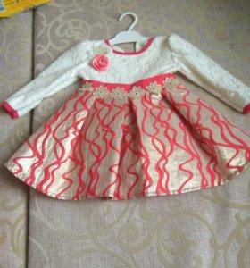 Детское платье 6-9 мес