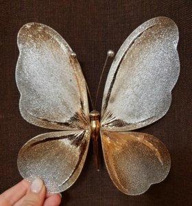 Украшения для ёлки, штор, стен в форме бабочки