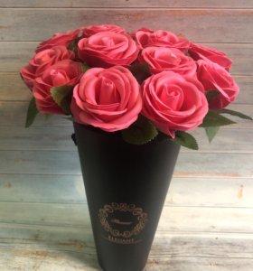 Букет стабилизированных роз из мыльных лепестков!