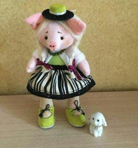 Кукла ручной работы свинка Нюша