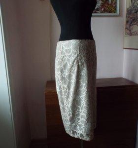 Шикарная гипюровая прямая юбка.