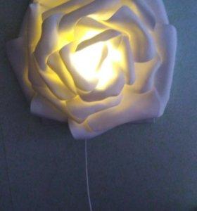 Светильник роза картина ночник