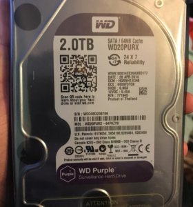 Жесткий диск Western Digital 2TB WD Purple