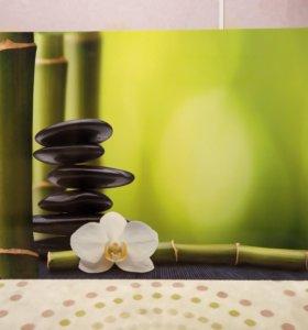 """Постер """"Бамбук и орхидея"""""""