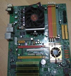 Материнская плата + процессор Socket 939