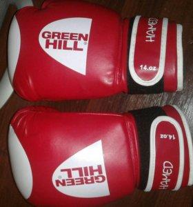 Боксерские перчатки green hill hamed 14oz.