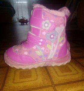 Продам ботинки зимние 16.5 см по стельки