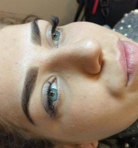Перманентный макияж, татуаж бровей и губ
