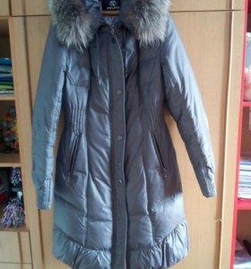 Пуховик-пальто женское б/у 46 размер
