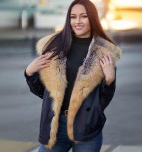 Куртка с мехом канадской лисы