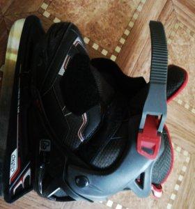 Коньки oxelo 35-38 размер чёрно-красного цвета