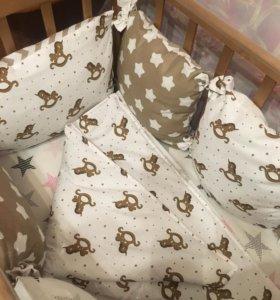 Детское постельное белье.Одеяло.Бортики.Подушки.