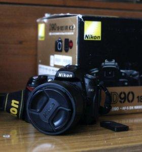 Nikon d90 с объективом nikkor 18-105