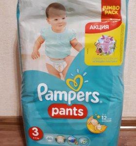 Трусики Pampers Pants 3 размер, 60 шт, 6-11 кг