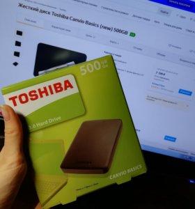 500 гб Жесткий диск Toshiba Canvio Basics