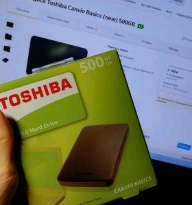 500 гб Жёсткий диск Toshiba Canvio Basics