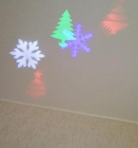 Проектор новогодний, уличный, садовый