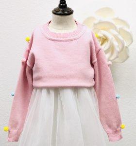 Нарядное тёплое платье, размеры 110/120