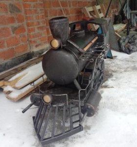 Коптильня , мангал паровоз