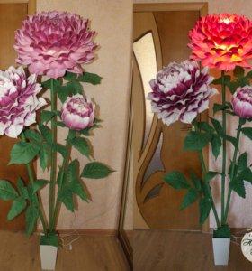 Изготовление торшеров и ростовых цветов