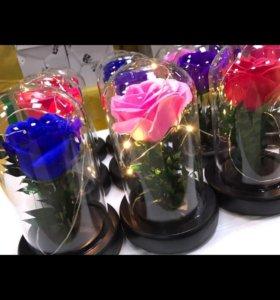 Роза в колбе 20 см