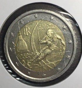 Монеты 2 евро Италия Турин