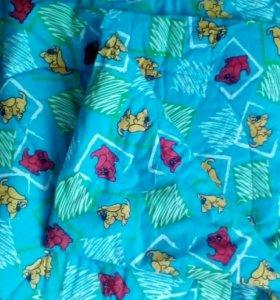Одеяло детское ватное в коляску или кроватку