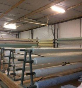 Производство, натяжные потолки