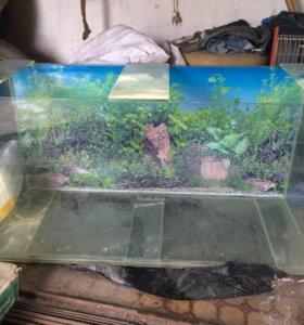 аквариум около 200л с подсветкой и фильтром