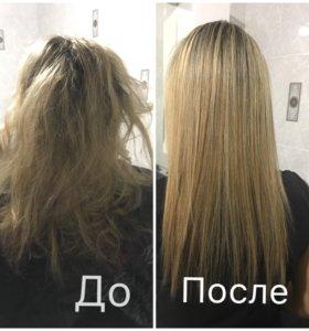 Кератирование волос.